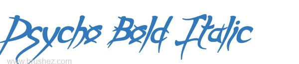 Psycho Bold Italic