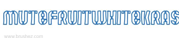 MUTEFRUITWHITEKRASH