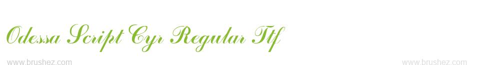 Odessa Script Cyr Regular Ttf