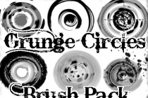 Grunge Circle Photoshop Brush Pack