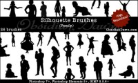 Silhouettes_Brushes_by_redheadstock