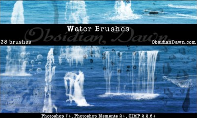 water brush photoshop