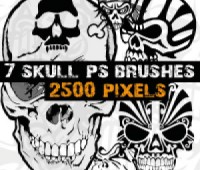 Skull Free Photoshop Brushes