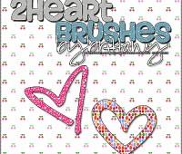 2 Heart Brushes