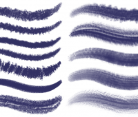 PS brushes set 2 – dark textured brushes