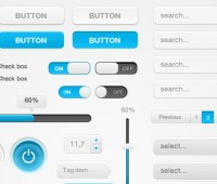 White blue web,ui elements pac free