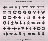 70+ Hand Drawn Arrows Shapes