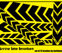 Arrow line brushes for photoshop