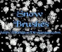 snow photoshop brushes