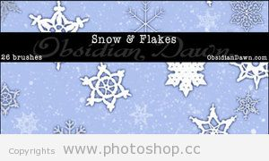 snow brushes for photoshop