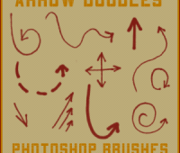 Arrow doodle Free photoshop  brushes