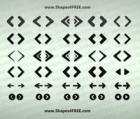 Web Arrows Icons shapes