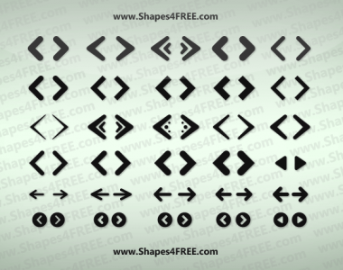 Web Arrows Icons shapes