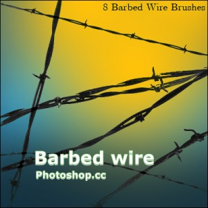 free Barbed Wire Brushes photoshop
