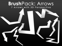 BrushPack – 3D Arrows for photoshop