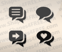 Pretty Chat Photoshop Shapes
