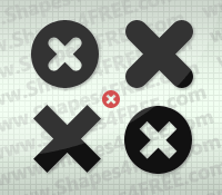Cross Icons PS Custom Shapes photoshop