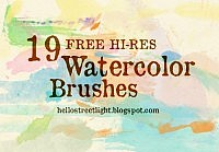 Free Brush Set 12: Watercolor (stamp brushes)
