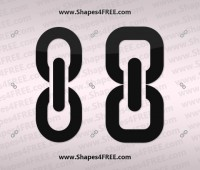 Link (Chain) Photoshop Shapes Icons