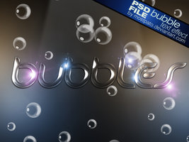 PSD Bubble Text Effect