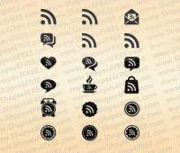 18 RSS Feed Photoshop Shapes