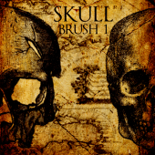 Skull 1 new photoshop brushes