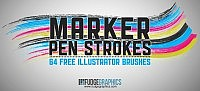 Marker Pen Strokes AI Brushes photoshop