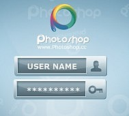 Free Blue login from psd photoshop