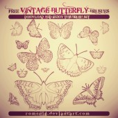 VINTAGE Cool Free Butterfly Brushes