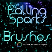 (English) Free Falling Sparks Photoshop Brushes cs7 2013