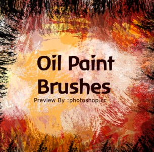 Real  Oil Paint brushes  splatters