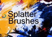 (English) splatter brushes