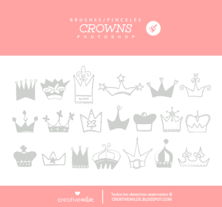 Crowns free photoshop brushes