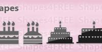10 Cake Photoshop & Vector Shapes (CSH, SVG)