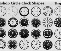 31 Photoshop Clock Shapes for Timeless Designs