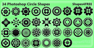 34 Creative Photoshop Custom Shapes – Circles