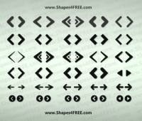 69 + Web Arrows Icons shapes