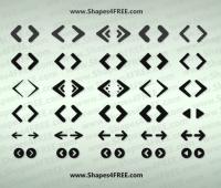 70+ Web Arrows Icons shapes photoshop