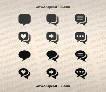 12 Pretty Chat Photoshop Shapes (CSH & SVG)