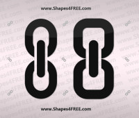 Link (Chain) Photoshop Shapes Icons (CSH & SVG)