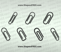 7 Paperclip Photoshop & Vector Shapes