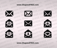 Email (Envelope) Photoshop Custom Shapes (CSH & SVG)