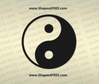 Yin Yang Photoshop & Vector Shape (CSH, SVG)
