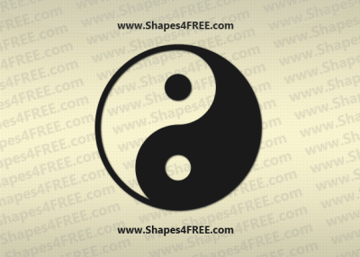 Yin Yang Photoshop & Vector Shape (CSH, SVG)