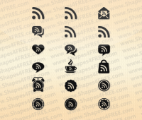 18 RSS Feed Photoshop & Vector Shapes (CSH, SVG)