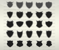 55 Shields Photoshop Custom Shapes