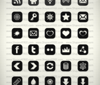90+ Shapes Icons (Vector)