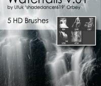 shades waterfalls free brushes