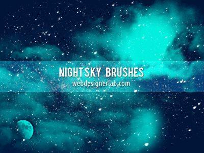 Night Sky Free Brushes by  xara24