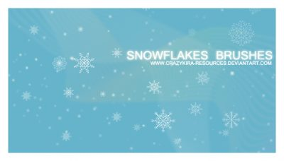 Christmas Snowflakes Brushes by  crazykira-resources